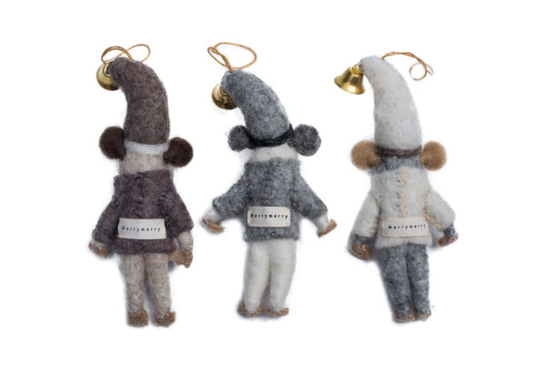 Snow mouse brother ornament