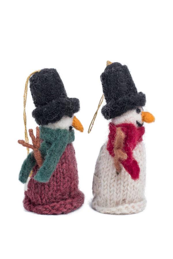 Knit snowman ornament