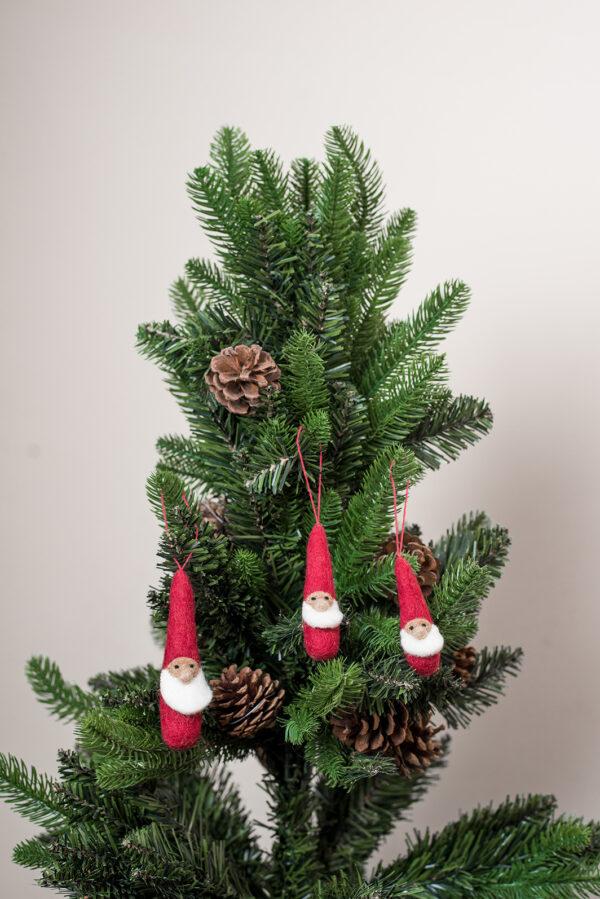 Small red Santa ornament set (3 in 1)