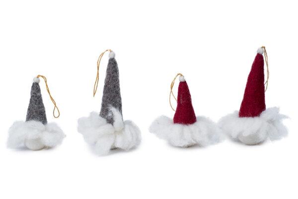 Fluffy Santa ornament set (2 in 1)