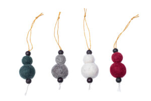 Snowball ornament set (4 in 1)