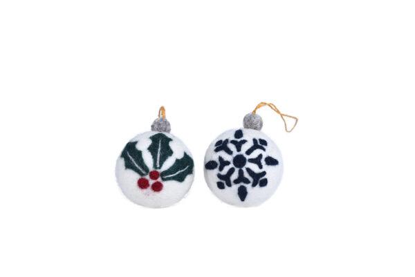 Felt ball ornament set (2 in 1)