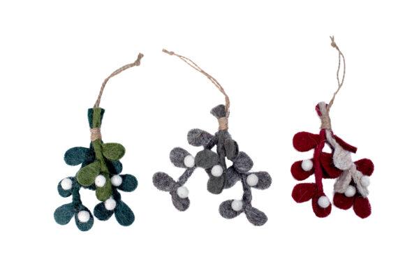 Winter leaf ornament set (3 in 1)