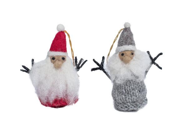 Knit Santa ornament