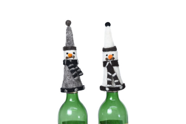 Wine Snowman