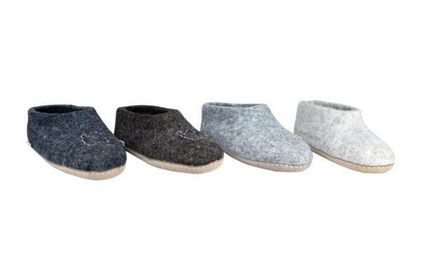 Home stitch felt room shoes (low cut)