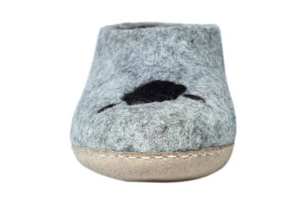 Sheep felt room shoes (low cut)