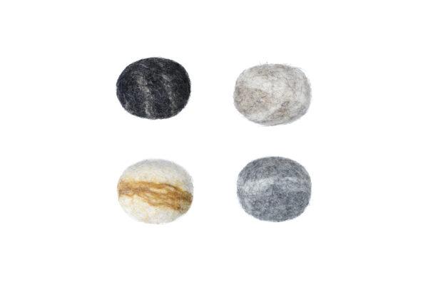 Felt stone magnet