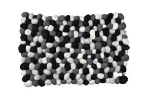 Felt stone rug