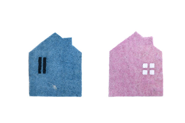 2 house coaster set (2 in 1)