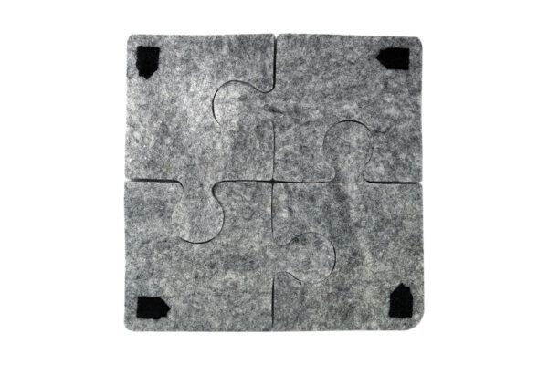 Felt puzzle coaster & pot mat (4 in 1)