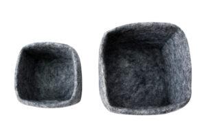 Felt square basket set (2 in 1)