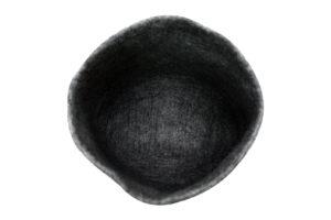 Two coloured felt basket (L)
