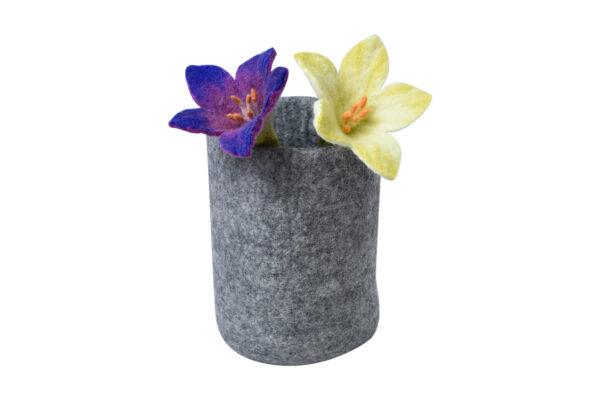 Felt flower pot set (2 in 1)